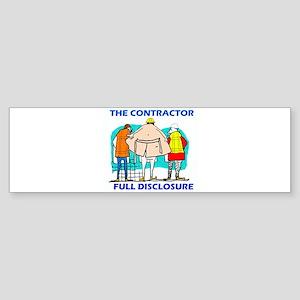 The Contractor Full Disclosure Bumper Sticker