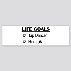 Tap Dancer Ninja Life Goals Sticker (Bumper)