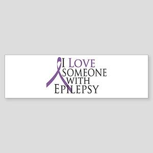 Love Someone with Epilepsy Bumper Sticker