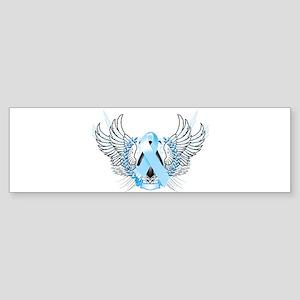 Awareness Tribal Light Blue Sticker (Bumper)
