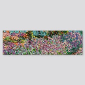 Irises In Monets Garden At Giverny Bumper Sticker