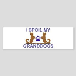 I Spoil My GrandDogs Sticker (Bumper)