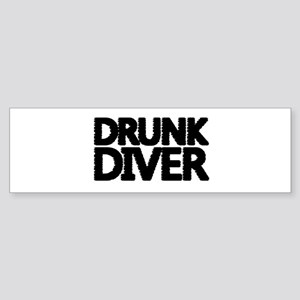 'Drunk Diver' Sticker (Bumper)