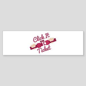 Click It Bumper Sticker