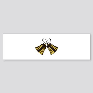 Crossed Handbells Bumper Sticker