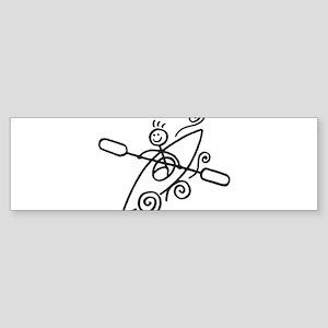 happy kayak black Bumper Sticker