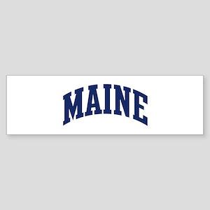 Blue Classic Maine Bumper Sticker