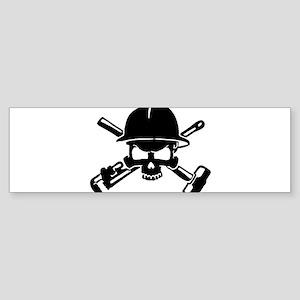 Oilfield Skull Bumper Sticker