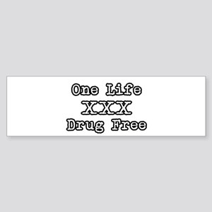 One Life Druge Free Bumper Sticker