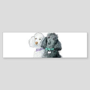 Two Poodles Sticker (Bumper)