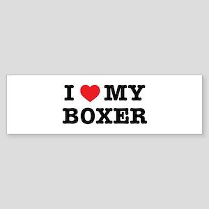 I Heart My Boxer Bumper Sticker