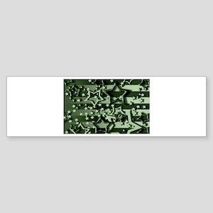 CAMOUFLAGED STARS & STRIPES Bumper Sticker