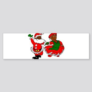 black santa mrs claus Bumper Sticker