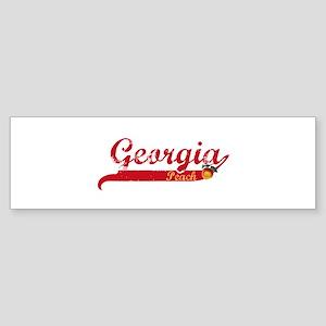 Georgia Peach - Red Bumper Sticker