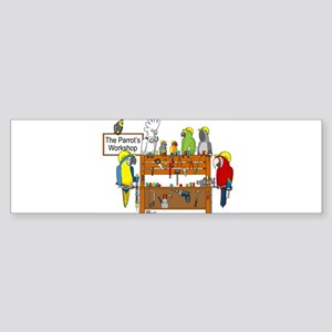 The Parrot's Workshop Logo Sticker (Bumper)