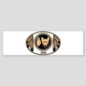 Metis Wolf Flag Native Art Sticker (Bumper)