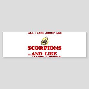 All I care about are Scorpions Bumper Sticker