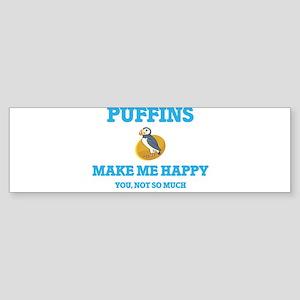 Puffins Make Me Happy Bumper Sticker