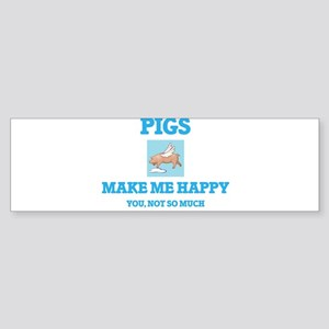 Pigs Make Me Happy Bumper Sticker