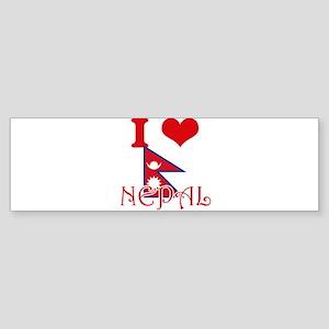 I Love Nepal Bumper Sticker