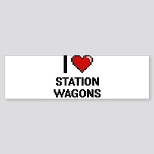 I love Station Wagons Digital Desig Bumper Sticker