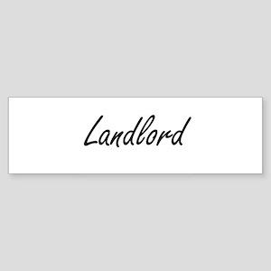 Landlord Artistic Job Design Bumper Sticker