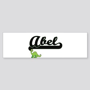 Abel Classic Name Design with Dinos Bumper Sticker