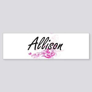 Allison Artistic Name Design with F Bumper Sticker