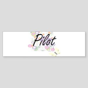 Pilot Artistic Job Design with Flow Bumper Sticker