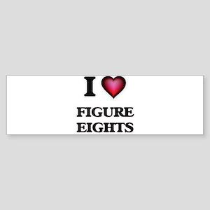 I love Figure Eights Bumper Sticker