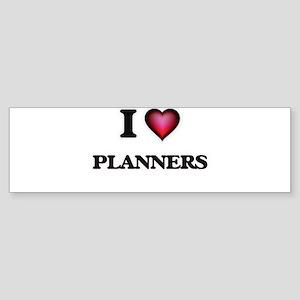 I Love Planners Bumper Sticker