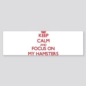 Keep Calm and focus on My Hamsters Bumper Sticker