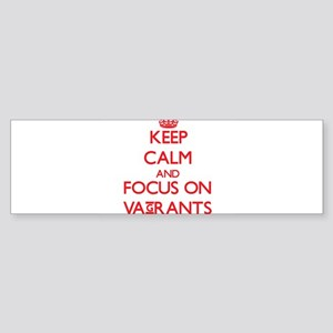Keep Calm and focus on Vagrants Bumper Sticker
