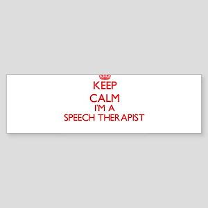 Keep calm I'm a Speech Therapist Bumper Sticker