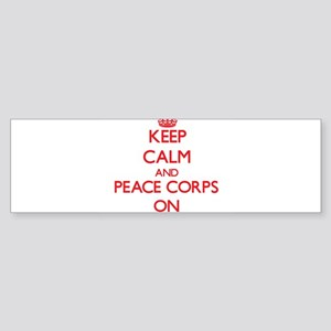 Keep Calm and Peace Corps ON Bumper Sticker