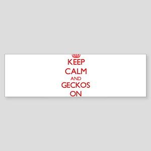 Keep calm and Geckos On Bumper Sticker
