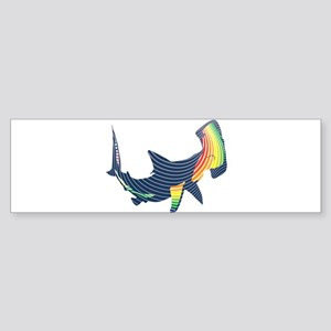 hammerhead color swoosh Bumper Sticker