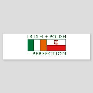 Irish Polish flags Bumper Sticker