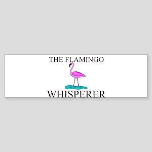 The Flamingo Whisperer Bumper Sticker