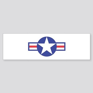 US USAF Aircraft Star Bumper Sticker