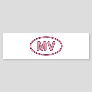 MV Pink Bumper Sticker