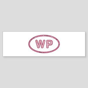 WP Pink Bumper Sticker