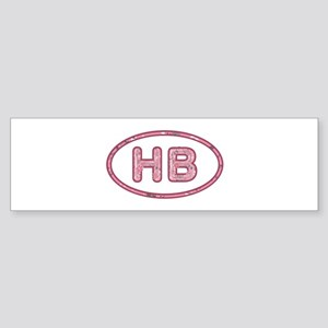 HB Pink Bumper Sticker
