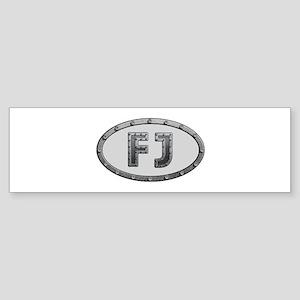 FJ Metal Bumper Sticker