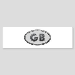 GB Metal Bumper Sticker