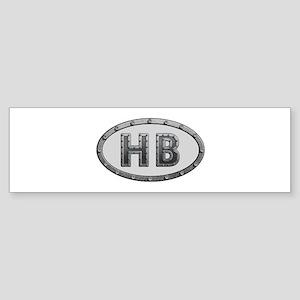 HB Metal Bumper Sticker