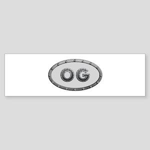 OG Metal Bumper Sticker