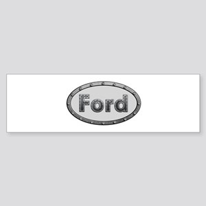 Ford Metal Oval Bumper Sticker