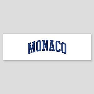 MONACO design (blue) Bumper Sticker