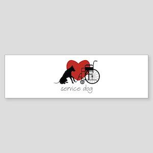 Service Dog Bumper Sticker